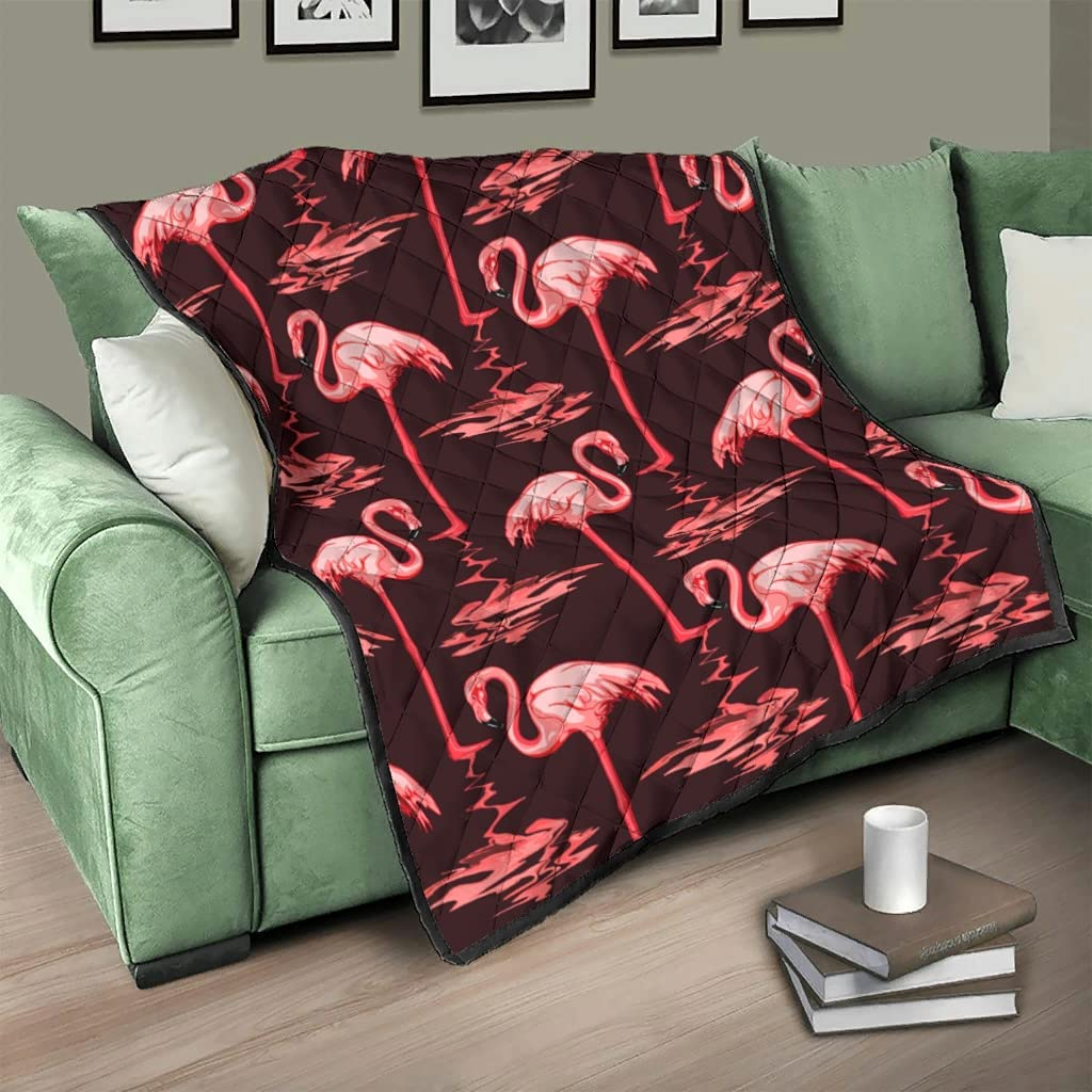 DCcphiz Blanket Quilt Throw OFFicial store Flamingo Red Washable Animal River a Limited time for free shipping