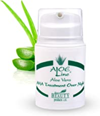 Aloe Vera AHA Fruchtsäure Treatment Over Night - regt Kollagenaufbau & Hauterneuerung an - enthält Aloe Vera, Jojobaöl, Panthenol, Allantoin & Sheabutter - Made in Germany / 1er Pack (1 x 50 ml)