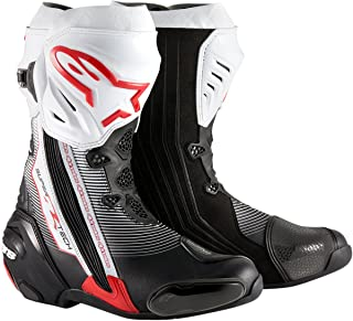 Alpinestars Supertech R Men's Motorcycle Road Racing Boots (Red/Black/White, EU Size 43)