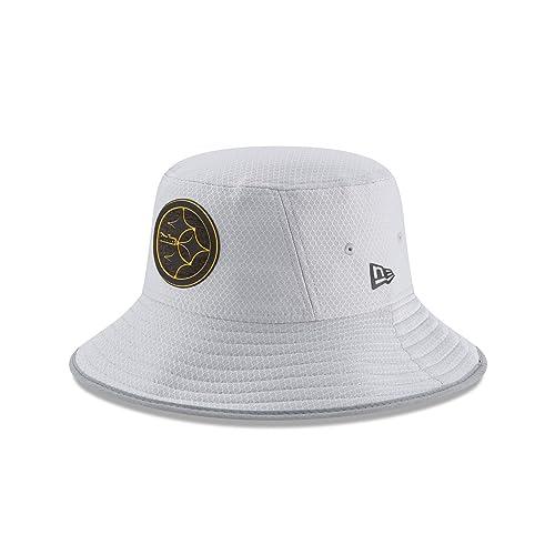 15dc2842cf7a5 New Era NFL 2018 Training Camp Sideline Bucket Hat - Gray