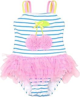 Kate Mack Girls 2-6X Paradise Island Rashguard Swimsuit