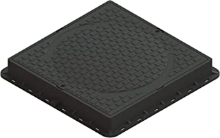 Standartpark - Square 24x24 locking plastic manhole cover with locking tool - 3,300 LB load class A