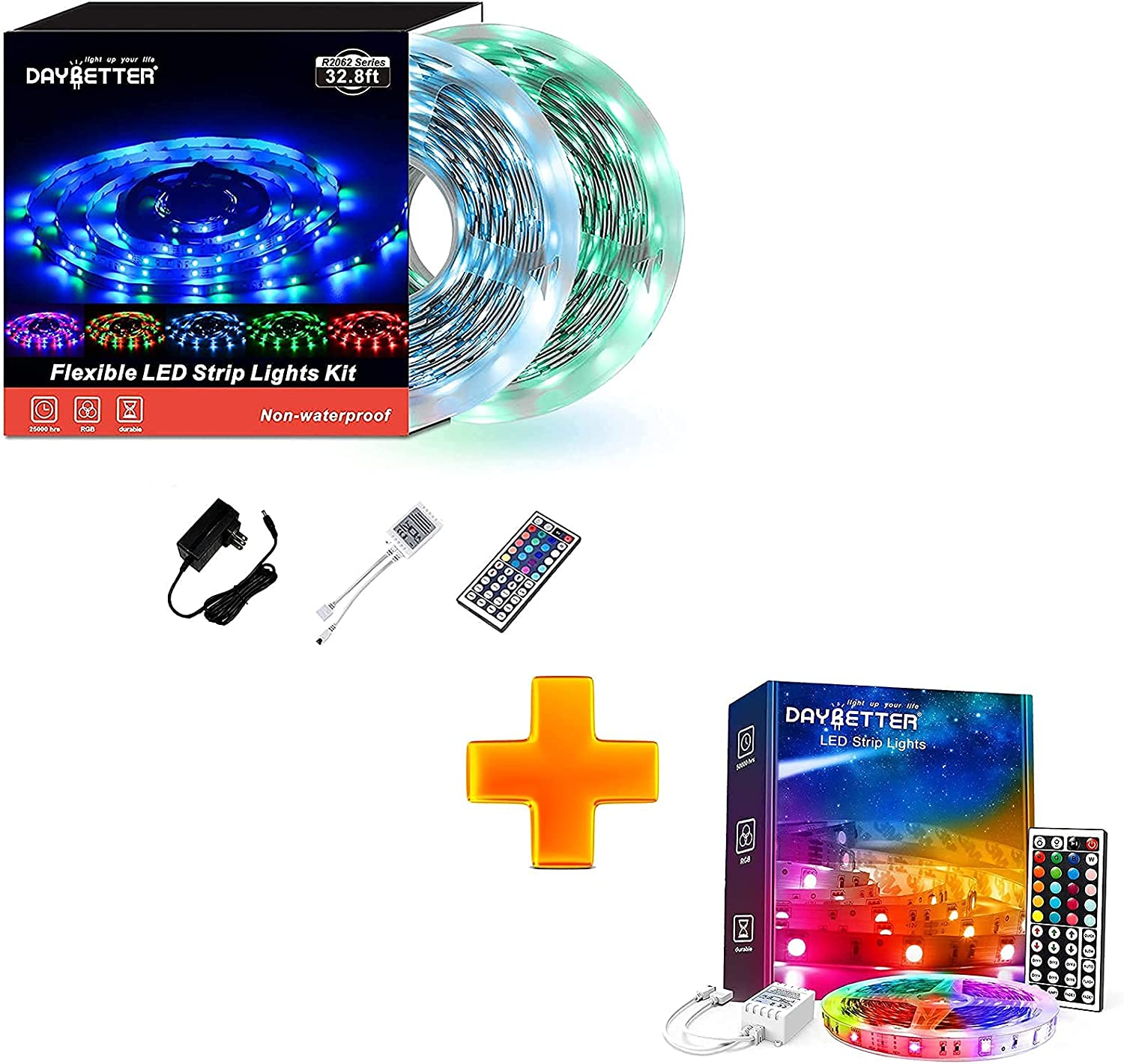 DAYBETTER 5050 Be super welcome RGB Flexible Color Remote Led St ...