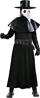 Black Plague Doctor Costume Plague Doctor Mask Costume for Adults