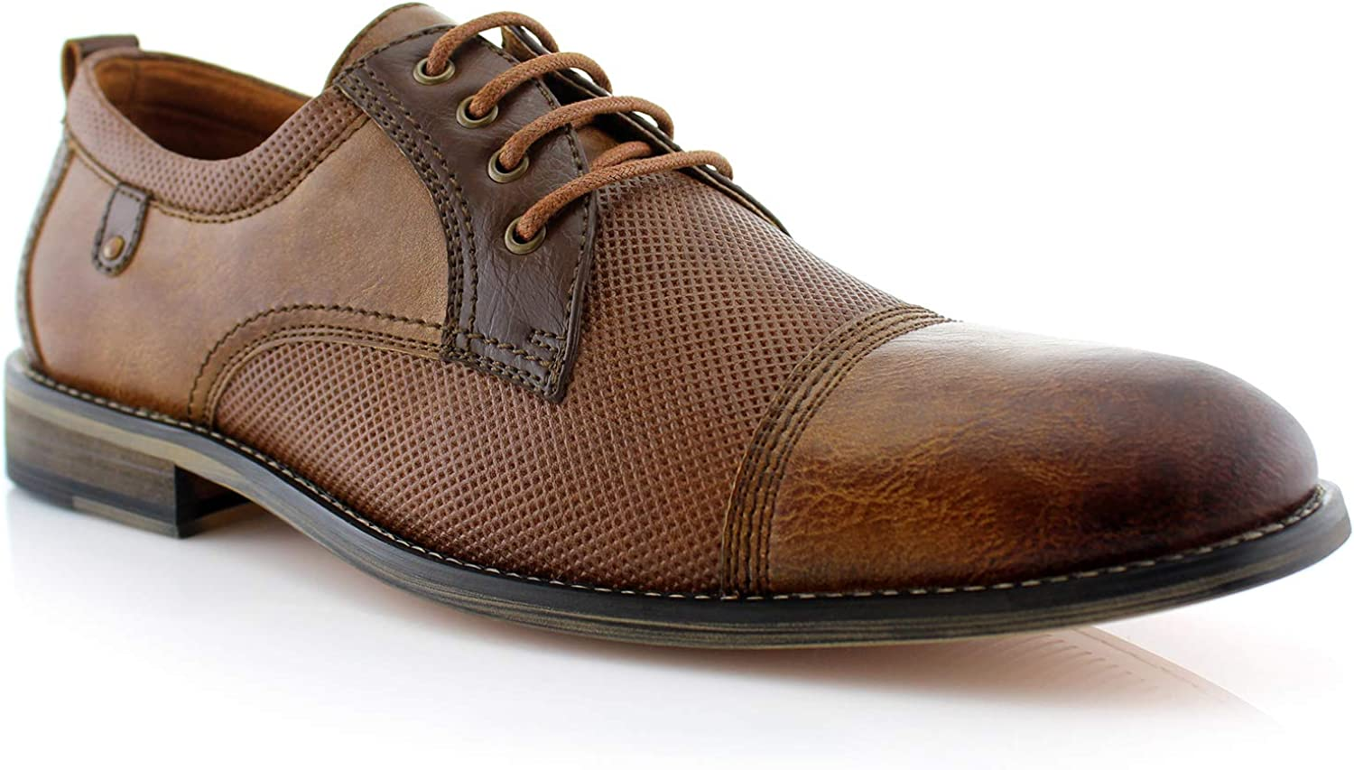 Felix MFA19603L Wing Tip Lace Up Leather Lining Oxford Dress shoes Brown 12