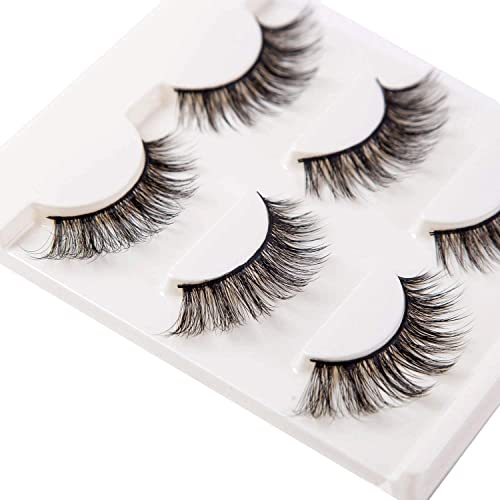 3dc741c20fb 3D False Eyelashes Extension 3Pairs Long Lashes With Volume for Women's  Make Up Handmade Soft Fake