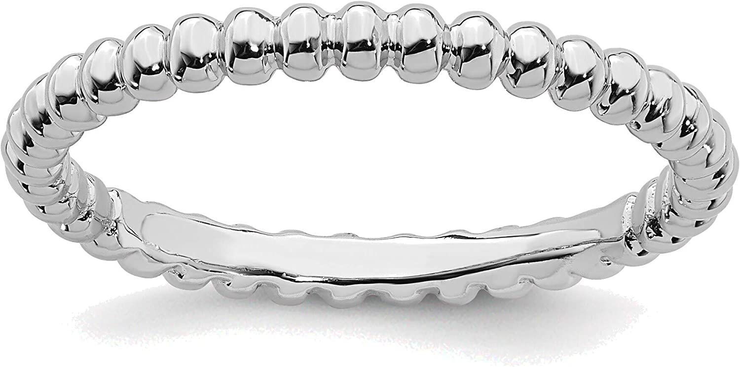 Bonyak Jewelry Max 71% OFF Solid Sterling Stackable specialty shop Expressions Silver Rhodi