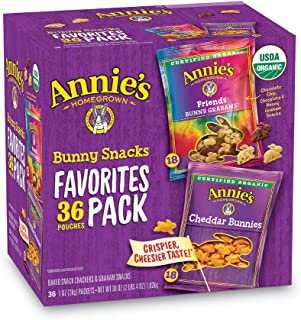 Annie's Homegrown Homegrown Bunny Snacks 36 Pouches 1 Oz Favorites Pack Net Wt 36 Oz