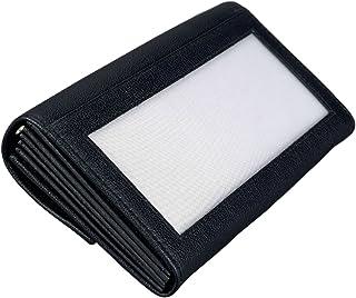 Alassio 42066 Portefeuille de Serveur en Cuir avec chaîne en métal et Mousqueton Noir 17,5 x 10 x 3 cm