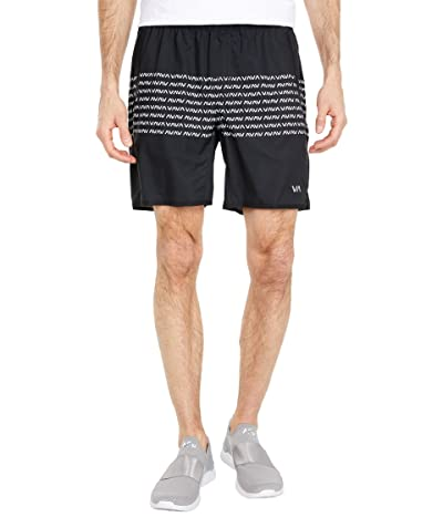 RVCA Yogger Stretch Shorts (Black/White) Men