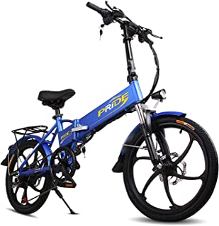 ENGWE Folding Electric Bike with 48V 8AH Removable Lithium-Ion Battery with 250W Motor and 6 Speed Shifter