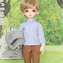 Fashion Handsome BJD Doll 1/6 SD Dolls Ball Jointed Doll 26CM 10 Inch DIY Toys with Clothes Shoes Wig Hair Makeup Surprise Gift,Blackeyeball