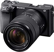 Sony Alpha a6400 Mirrorless Camera: Compact APS-C Interchangeable Lens Digital Camera with Real-Time Eye Auto Focus, 4K Vi...