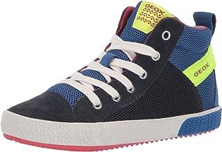 GEOX Unisex-Child Boys Alonisso Boy 35 Denim High Top Sneaker with Zip Multi Size:
