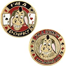 Brybelly Heavyweight Solid Brass Poker Card Guards with Color Inlays