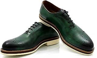 CANNERI Scarpe Stringate Uomo - 9570 - Derby con Brogue Touch - Scarpe Eleganti per Il Business e Casual dalla Pelle con D...