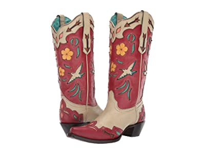 Corral Boots A3780 (Bone/Red) Women