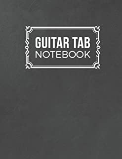 Guitar Tab Notebook: 5 Blank Chord Diagrams Seven 6-Line Staves - Blank Music Journal for Guitar Players and Musicians