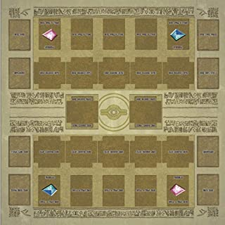 Alelife Yu-gi-oh Arc-v Card Rubber Play Mat 60x60cm Egypt Style Competition Pad Playmat Monster Zone for Yu-gi-oh Card