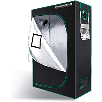 """MARS HYDRO Grow Tent 2'x4' 1680D Canvas 100% Reflective Mylar Hydroponic Grow Tents with Removable Floor Tray for Houseplants Growing Room 24""""x48""""x70"""" for TSL2000/SP3000"""