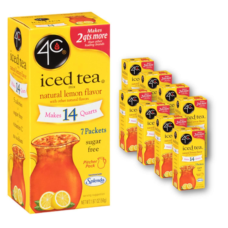 4C Powder Drink Mix | Pitcher Packs | Refreshing Water Flavorings | 56 Packets, Makes 2 Quarts Each (Lemon Tea)