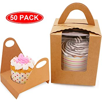 Party Supplies Paper Boxes Orange Cupcake Boxes 12 Pieces Containers /& Boxes