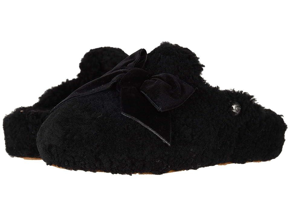 UGG Addison Velvet Bow Slipper (Black) Women
