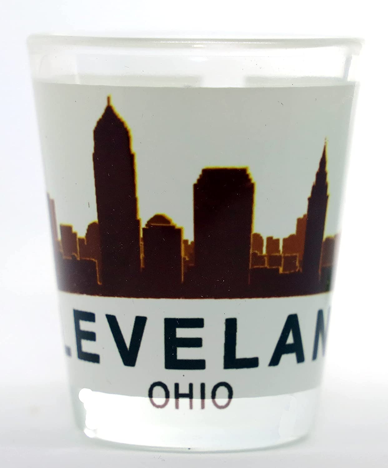 Online limited product Cleveland Ohio Sunset Max 76% OFF Glass Shot Skyline