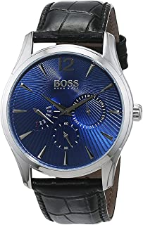Hugo Boss Men's Blue Dial Leather Band Watch - 1513489