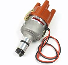 Pertronix D189604 Flame-Thrower VW Type 1 Engine Plug and Play 6 Volt Negative Ground Non Vacuum Cast Electronic Distributor with Ignitor Technology