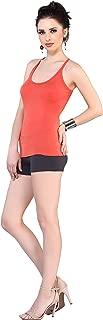 Dayoke Inner Deep Racer back Camisole Crossback Sphageti For Women/Girls