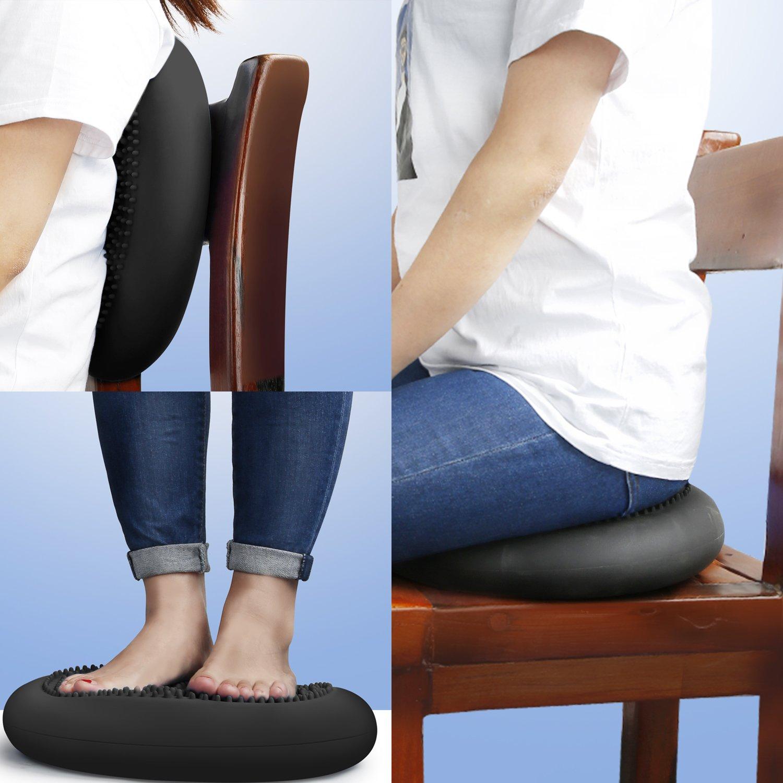 Ball cojines asiento cojines de asiento cojines de aire masaje fitness Sport rehabilitación navyblau