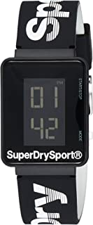 Superdry Sprint Digi Digital Black Dial Men's Watch - SYG204BW