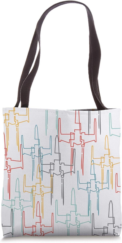 Star Wars X-Wing Starfighter Retro Print Tote Bag