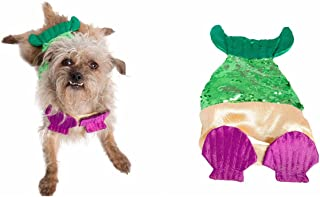 Pet Krewe Mermaid Dog Costume with Two-Toned Sequins Tail - Pet Costumes