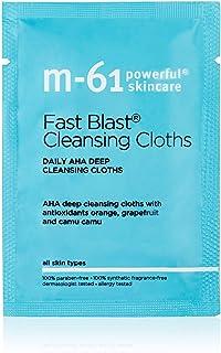 M-61 Fast Blast Cleansing Cloths- 20 treatments- Daily AHA deep cleansing cloths with antioxidants orange & camu camu