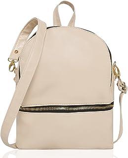Kleio Women's Beige Small Travel Backpack