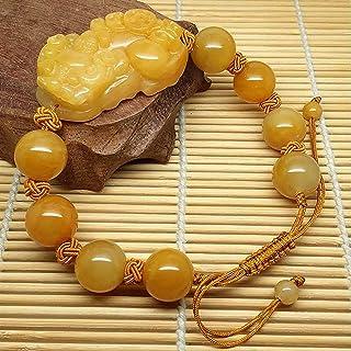 Feng Shui Pixiu Wealth Bracelet Imperial Jade Piyao Adjustable Bangle Bracelet Healing Chakra Gemstone Attract Money Prosp...