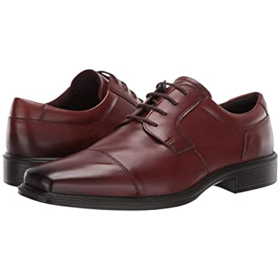 ECCO Minneapolis Cap Toe Tie (Cognac Full Grain Leather) Men