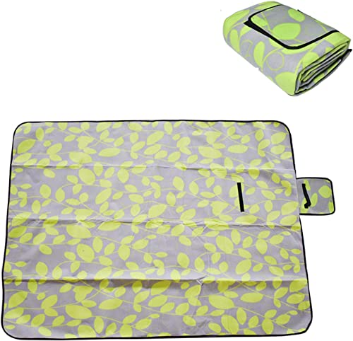 labworkauto Picnic Blanket Mat Outdoor Blanket Handy Compact Mat with Waterproof Backing for Camping, Park, Beach, Hiking, Family.