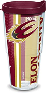 Tervis 1229891 Elon Phoenix College Pride Tumbler with Wrap and Maroon Lid 24oz, Clear