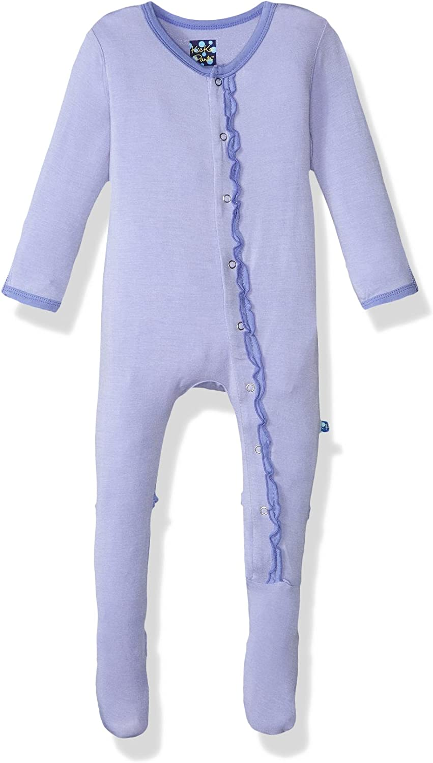 Kic NEW before selling Kee Pants Baby Girls' Footie Solid Oakland Mall Muffin Prd-kpmrf39 Ruffle