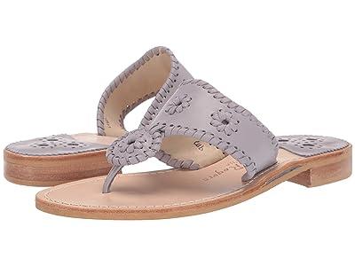 Jack Rogers Jacks Flat Sandal (Gull Grey) Women