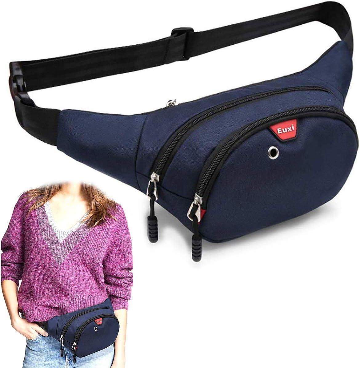 K-Martins Men Minneapolis Mall Womens Black Recommendation Fanny Pack Bag Large Sturdy Waist -