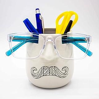 Luvberries - Ceramic Eyeglass Holder and Desk Organizer Vase, Eyewear and Stationery Organizer, Makeup Essentials Holder, ...