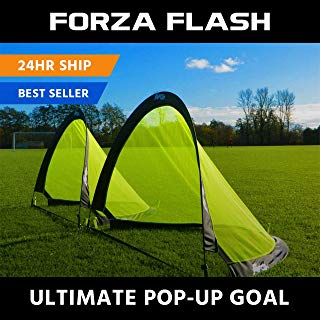 Forza Flash Pop Up Soccer Goal - Ultimate PRO Portable Soccer Nets with Carry Bag - Available in 2.5ft, 4ft & 6ft - [Net World Sports]