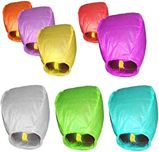 Rainbow Love 10 Pack Multicolor Color Chinese Sky Lanterns Wish Balloon Wishing Lamp Wishing Light for Wedding Birthday Christmas Party