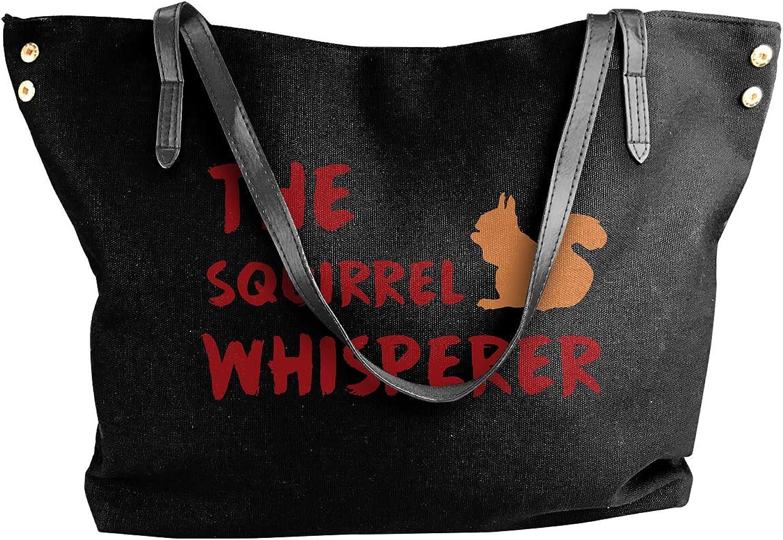 Squirrel Whisperer Women'S Recreation Canvas Shoulder Bag For Shopping Shoulder Tote