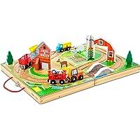 Deals on Melissa & Doug 17-Piece Wooden Take-Along Tabletop Farm