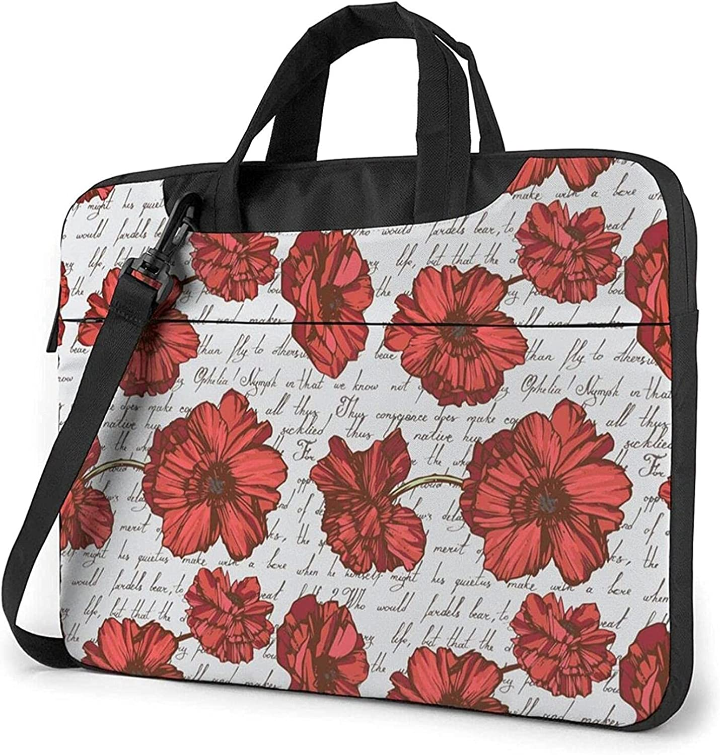 Epushow Seamless Poppies Laptop Bag Brand Cheap Sale Venue Attention brand Inch Strap Shoulder 15.6 Mes